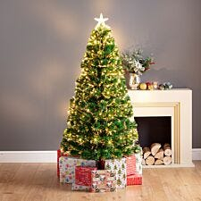 5ft Sandringham Warm White Fibre Optic Christmas Tree