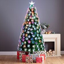 5ft Firework Fibre Optic Christmas Tree with Star