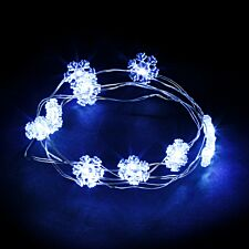 Robert Dyas Battery Operated Copper 100 LED Snowflake Lights - Warm White