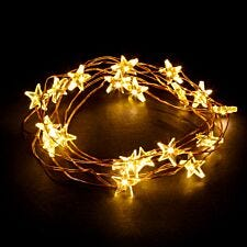 Robert Dyas Battery Operated Copper 100 LED Star Lights - Warm White