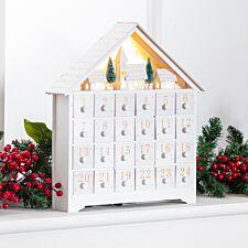 Robert Dyas Battery Operated Wooden Advent Calendar