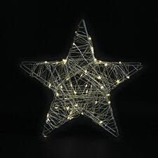 Robert Dyas Battery Operated Copper LED Star - Warm White
