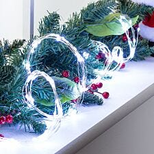 Robert Dyas Battery Operated 1.5 Copper Garland Lights - Ice White