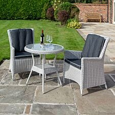 Rowlinson Prestbury Bistro Set - Light Grey