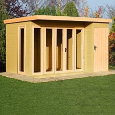 Shire Aster Summerhouse with Attached Storage Shed