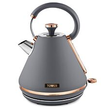 Tower Caveletto 1.7L 3000W Pyramid Kettle - Grey/Rose Gold