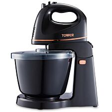 Tower 300W 2.5L Hand/Stand Mixer - Black/Rose Gold