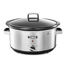 Tower 3.5L Stainless Steel Slow Cooker - Silver