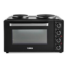Tower 42L Mini Oven with Hobs and Rotisserie Function - Black