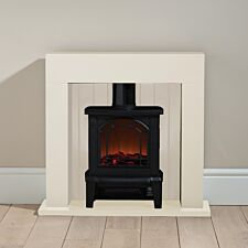 Flamemaster 1800 watts Cream Fireplace and Stove