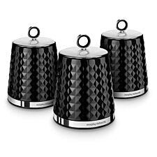 Morphy Richards Dimensions Set of 3 Canisters - Black