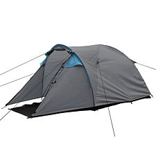 Charles Bentley Two Person Tent & Awning - Grey & Blue