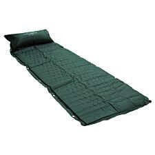 Charles Bentley Self-Inflating Single Camping Mat & Pillow - Dark Green