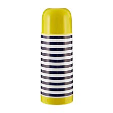 Maison By Premier Mimo Stripe Vacuum Flask Double Walled 350ml - Blue