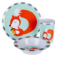 Maison By Premier Mimo 3-Piece Susie Squirrel Kids Dinner Set - Multi-Coloured