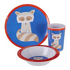 Maison By Premier Mimo 3-Piece Ralph Raccoon Kids Dinner Set - Multi-Coloured