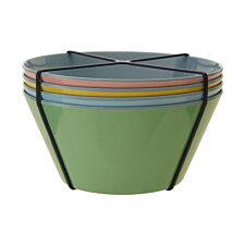 Maison By Premier Mimo Set of 4 Melamine Bowls - Multi