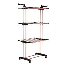 Tower Foldable 3-Tier Airer - Rose Gold