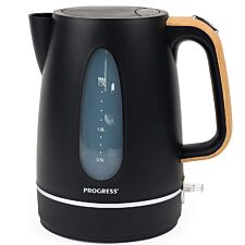 Progress EK3758PBLK Scandi Rapid Boil Jug Kettle - Wood Effect Finish/Black