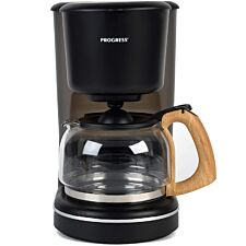 Progress EK3757PBLK Scandi Coffee Maker - Wood Effect Finish/Black