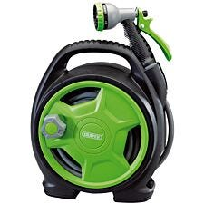 Draper Premium 10M Mini Hose Reel Set - Black & Green