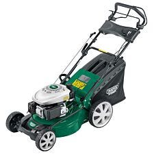 Draper 3-in-1 460mm Self-Propelled Petrol Lawn Mower (135cc/3.2HP) - Green and Black