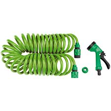 Draper Recoil Hose with Spray Gun & Tap Connector - 10m
