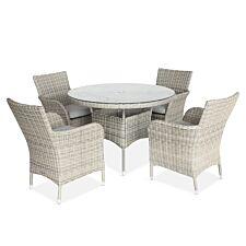 LG Outdoor Monaco Hazel 4 Seat Dining Set with 2.2m Parasol