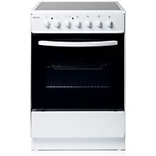 Haden HEC60W 60cm Freestanding Single Cavity Electric Cooker with Ceramic Hob - White