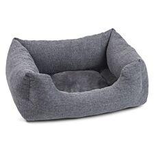 Zoon Harrogate Tweed Square Dog Bed - Medium