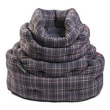 Zoon Plaid Oval Dog Bed