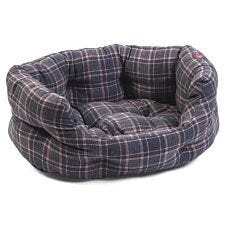 Zoon Plaid Oval Dog Bed - Extra Large