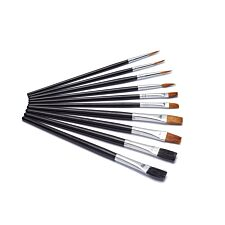 Harris Seriously Good Flat Artist Paint Brushes Set - Pack of 10