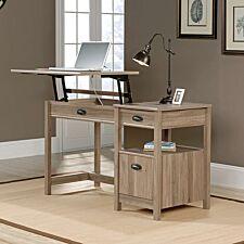 Teknik Ergonomic Sit Stand Desk - Salt Oak Finish