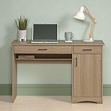 Teknik Home Office Essentials Computer Desk - Summer Oak Finish