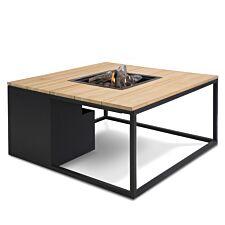 Pacific Lifestyle Cosiloft 100 Firepit Table - Black/Teak