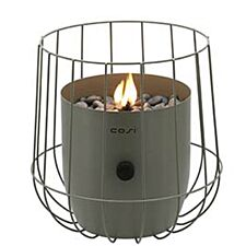 Pacific Lifestyle Cosiscoop Basket Fire Lantern - Olive