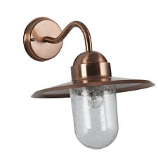Pacific Lifestyle Metal and Glass Fisherman Wall Light - Copper