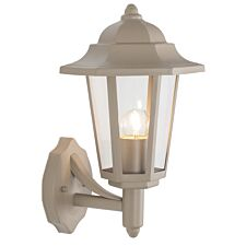 Pacific Lifestyle Metal Hex Lantern Wall Light - Taupe