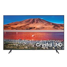"Samsung 2020 43"" TU7100 LED 4K Ultra HD Crystal View HDR Smart TV - Carbon Silver"