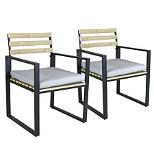 Charles Bentley Polywood and Aluminium Pair of Chairs