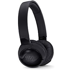 JBL T600BTNC Wireless Bluetooth On-ear Active Noise-cancelling Headphones with Earcup Controls - Black
