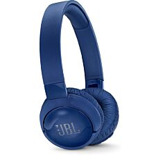 JBL T600BTNC Wireless Bluetooth On-ear Active Noise-cancelling Headphones with Earcup Controls - Blue
