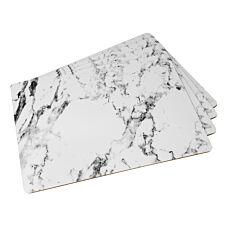 Marble Design Cork Back Placemats - Set of 4