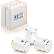 Netatmo Smart Thermostat + 3 Additional Smart Radiator Valves - White