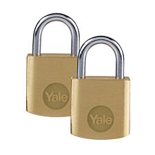 Yale Brass Padlock 20mm - Pack of 2