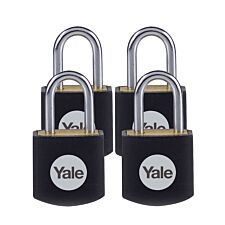 Yale Brass Padlock 15mm - Pack of 4
