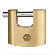 Yale Brass Shutter Padlock 60mm - Clear Lacquer