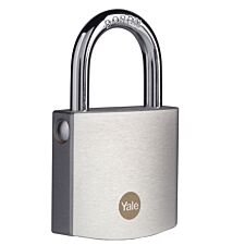 Yale Brass Padlock 50mm with Chrome Finish