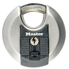 Master Lock 70mm Wide Excell Stainless Steel Discus Padlock with Shrouded Shackle